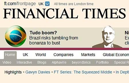 Financial Times ressalta perda de valor da Petrobras