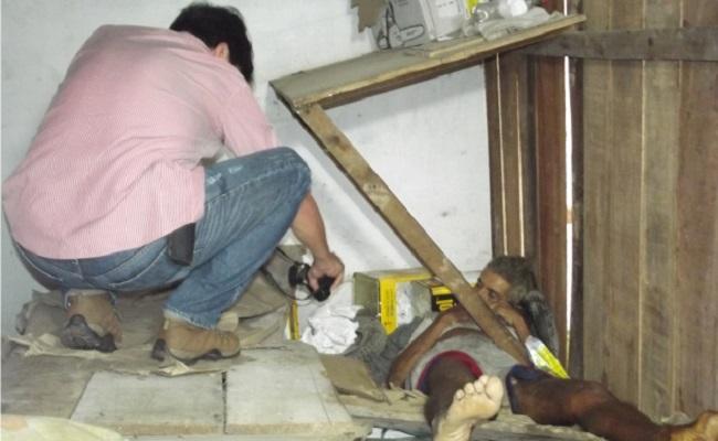 Morador de rua é encontrado morto em barraco no centro de Cacoal
