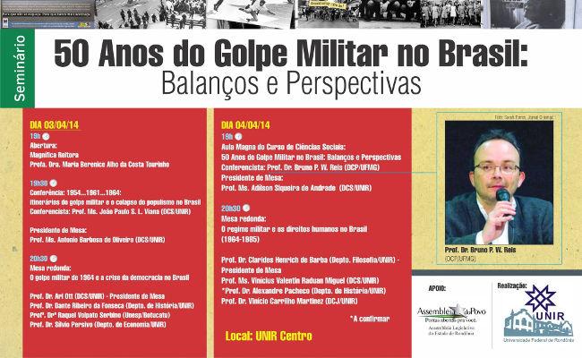 Seminário na UNIR analisa 50 anos do golpe militar