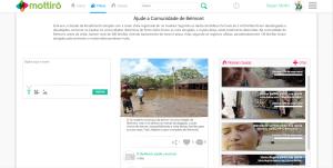 Página de causas do site Mottirô