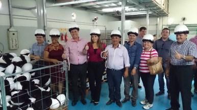 Vereadores de Pimenta Bueno em visita a fábrica de capacetes