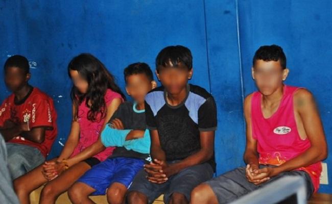 Quadrilha de menores confessa três furtos