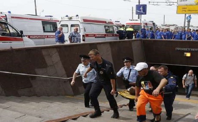 Descarrilamento de metrô na Rússia mata pelo menos 20