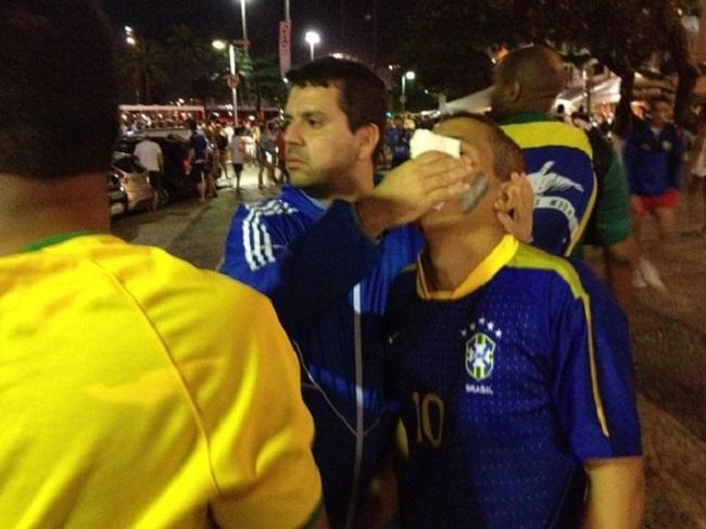 Argentinos e brasileiros brigam em vários pontos do Rio após fim do jogo