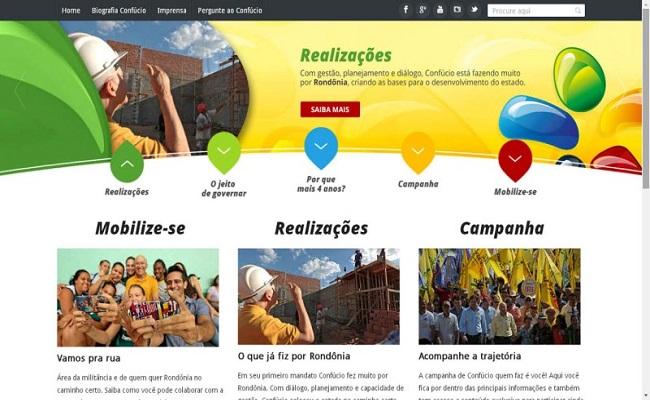 Confúcio lança site de campanha