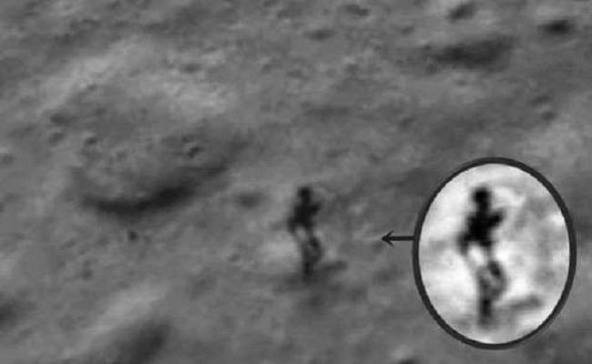 Imagem da Nasa mostra suposto alienígena e sua sombra na Lua