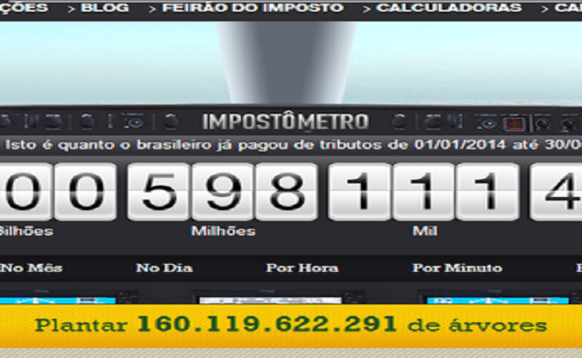 Impostômetro chega a R$ 1 trilhão nesta terça-feira