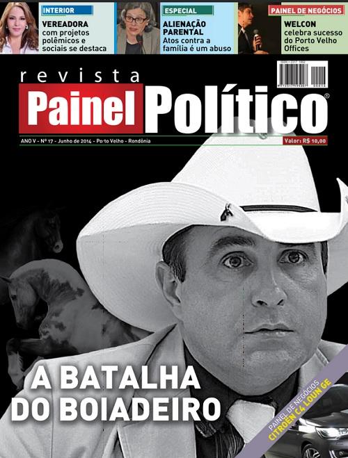 Em 2014 Boiadeiro foi capa de PAINEL POLÍTICO
