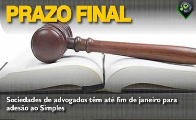 Sociedades de advogados têm até fim de janeiro para adesão ao Simples