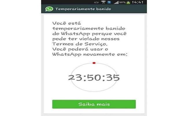 Usuários do WhatsApp são suspensos por 'uso indevido'