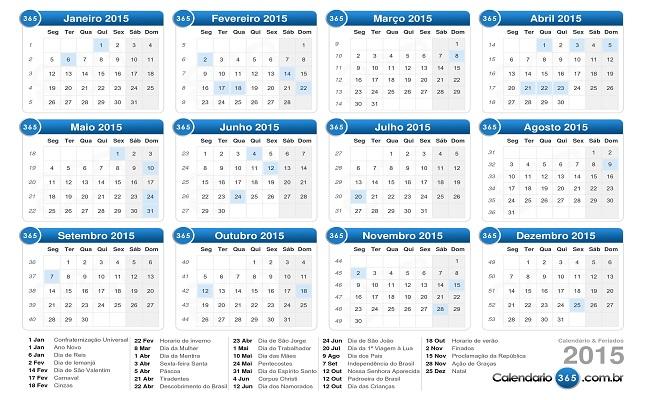 Governo define nove feriados nacionais obrigatórios em 2015