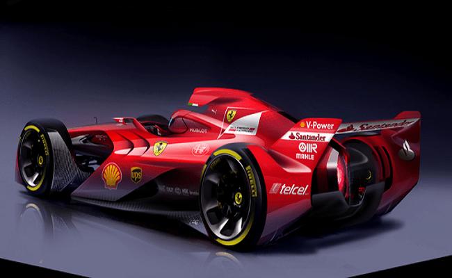 Ferrari apresenta conceito de carro com visual futurista para a Fórmula 1