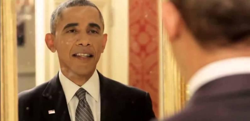 O que o presidente Obama faz quando não tem ninguém olhando?
