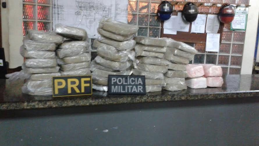 PRF apreende 50 quilos de cocaína na BR 364
