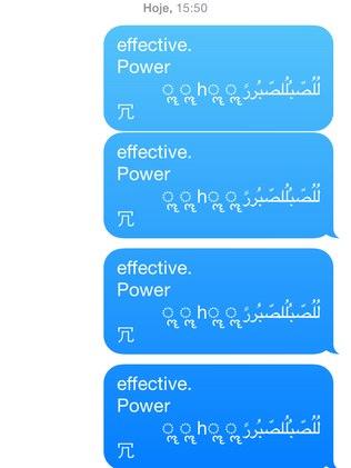 Mensagem com caracteres em árabe trava o aplicativo de mensagens e, quando a tela está bloqueada, faz o iPhone reiniciar sozinho
