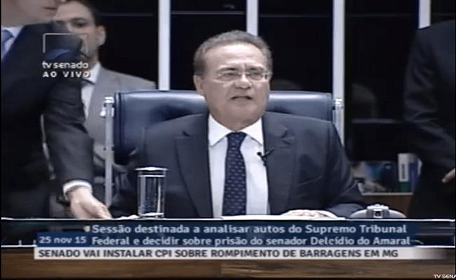 Renan Calheiros determina o voto secreto para apreciação da prisão do Delcídio do Amaral
