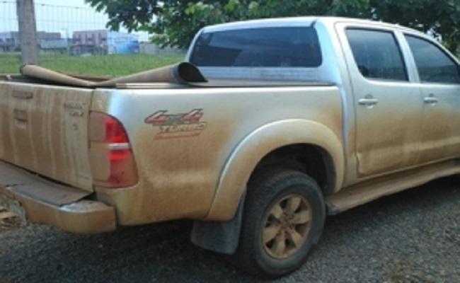 Outra caminhoneta roubada é apreendida com índios