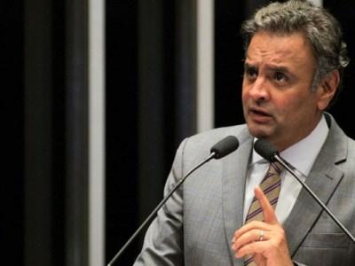 Aécio Neves depõe à PF em Brasília