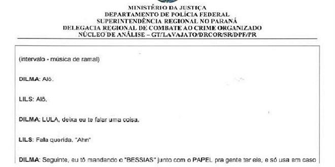 Sérgio Moro libera gravações entre Lula e Dilma que falam sobre nomeação como ministro