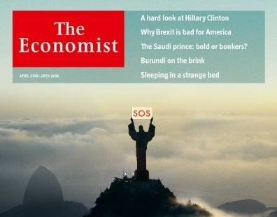 Capa da revista Economist tem Cristo Redentor pedindo socorro