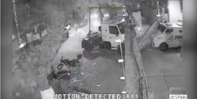 Novas imagens mostram mega-assalto em Santos; veja