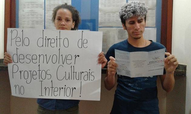 Acadêmicos da Unir em Vilhena protestam por melhorias no campus
