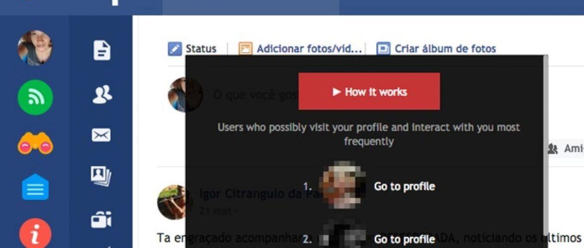 Plugin diz revelar quem visitou seu perfil no Facebook
