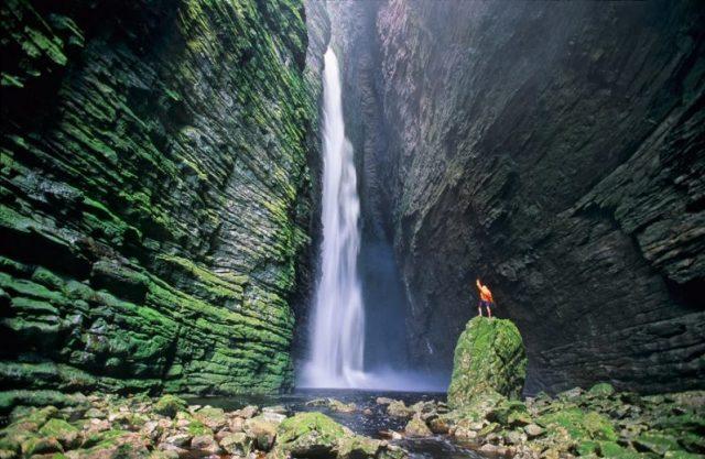 Cachoeira da Fumacinha, na Chapada Diamantina