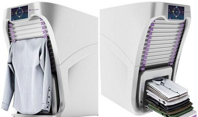 Empresa cria máquina de lavar roupas que lava, seca, passa e dobra