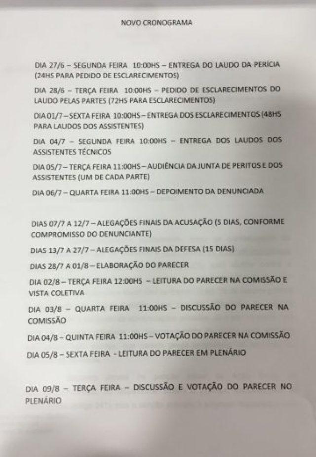 Novo cronograma para o afastamento definitivo de Dilma Rousseff