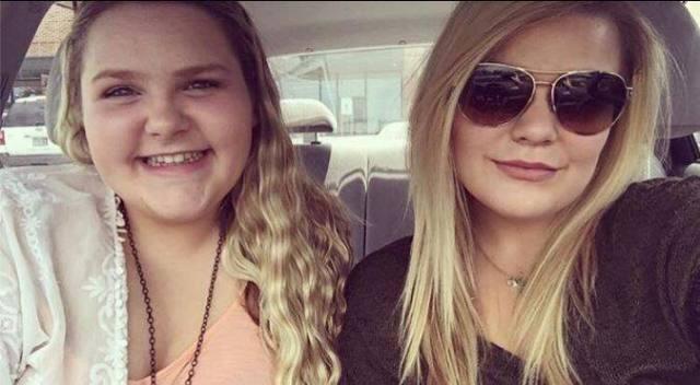 As filhas Taylor Sheats, 22 anos, e Madison Sheats, 17 anos