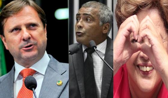"""Romário e Gurgacz vão votar """"buscando o melhor para o Brasil"""""""