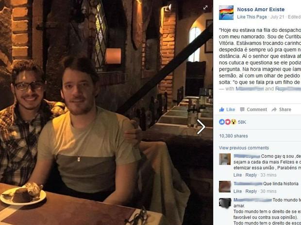 Post foi publicado nesta quinta-feira (21), nas redes sociais (Foto: Reprodução/ Facebook)