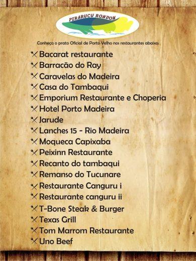 Porto Velho realiza seu 1º Festival Gastronômico, no Senac