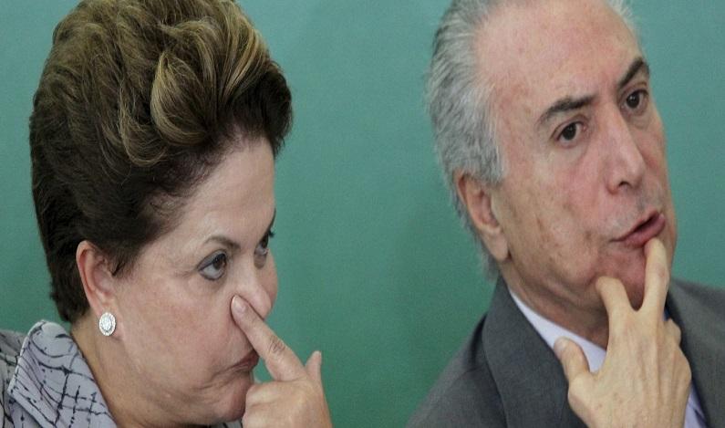 Campanha de Dilma pagou comício de Temer na quadra da Portela