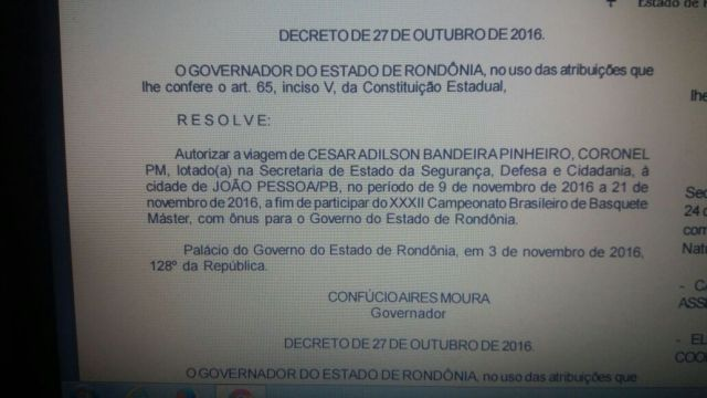 Seguranca agoniza e governo libera coronel da PM a jogar basquete no nordeste