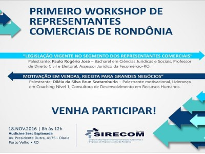 Sirecom realiza 1º Workshop dos representantes comerciais de Rondônia