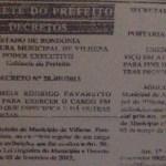 PF apreende Carteira de Trabalho de advogado nomeado depois de morto na prefeitura de Vilhena