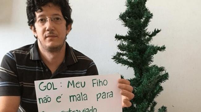 Pai acusa Gol de perder seu filho em voo para Vitória; empresa pede desculpas