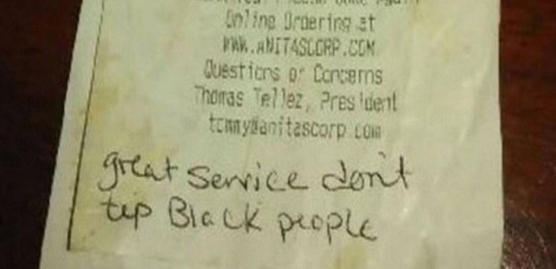 """Casal elogia serviço nos EUA, mas diz que não """"dá gorjeta a negros"""""""