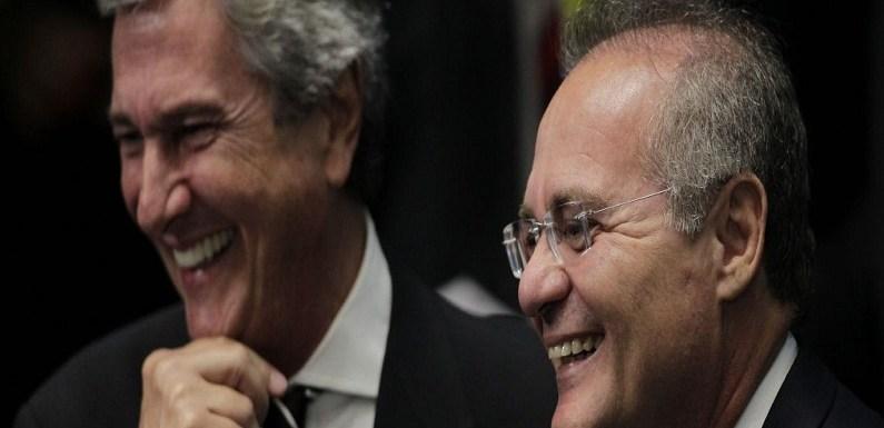 Gastos de Renan e Collor com Correios no Senado sobem 225% em 1 ano