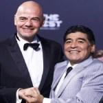 Maradona anuncia que vai trabalhar para a Fifa