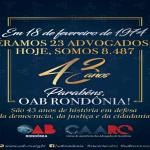 OAB/RO comemora 43 anos de luta em prol da advocacia e população rondoniense