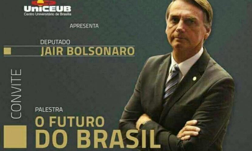 Faculdade do DF nega ter marcado palestra com Bolsonaro; deputado confirma
