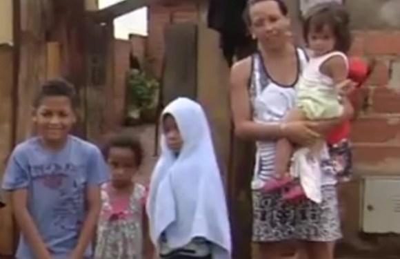 Em Goiás, mãe de sete filhos pede ajuda para alimentar as crianças; um deles tem leucemia
