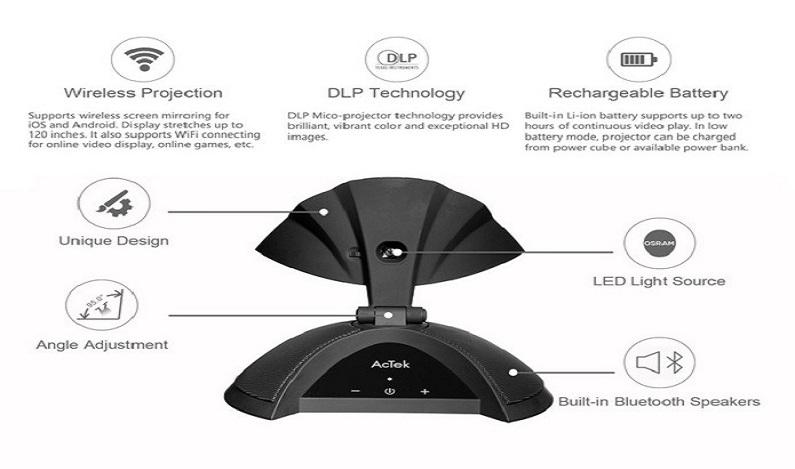 Projetor portátil Bluetooth cabe dentro da bolsa e tem suporte a Wi-Fi