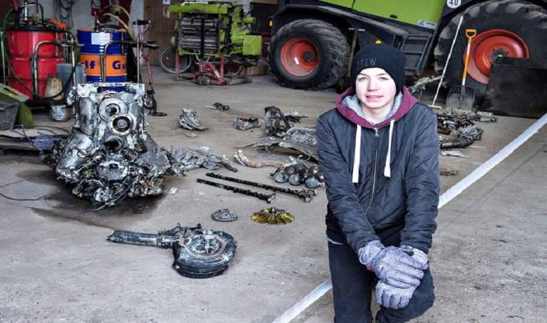 Menino encontra avião da II Guerra com restos mortais de piloto