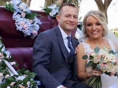 Após levar 32 facadas, mulher se casa com homem que a salvou