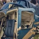 Helicóptero cai na Grande Curitiba e cinco pessoas ficam feridas