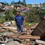 Vendaval atinge 1,6 mil pessoas e destrói 500 casas em município da Serra Gaúcha